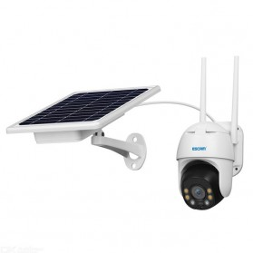 ESCAM QF130 WiFi IP Camera CCTV HD 1080P 2MP Solar Panel - White