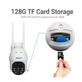 ESCAM QF130 WiFi IP Camera CCTV HD 1080P 2MP Solar Panel - White - 2