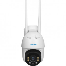 ESCAM QF130 WiFi IP Camera CCTV HD 1080P 2MP Solar Panel - White - 3
