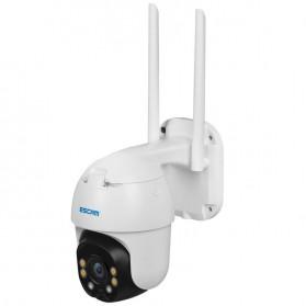 ESCAM QF130 WiFi IP Camera CCTV HD 1080P 2MP Solar Panel - White - 5