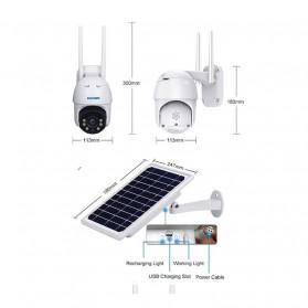 ESCAM QF130 WiFi IP Camera CCTV HD 1080P 2MP Solar Panel - White - 6