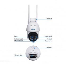 ESCAM QF130 WiFi IP Camera CCTV HD 1080P 2MP Solar Panel - White - 7