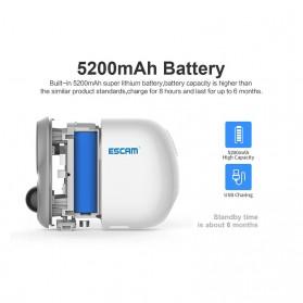 ESCAM G15 Dome WiFi IP Camera CCTV AI Recognition 1/3 Inch CMOS 1080P - White - 8