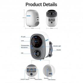 ESCAM G15 Dome WiFi IP Camera CCTV AI Recognition 1/3 Inch CMOS 1080P - White - 9