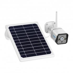 ESCAM QF120 WiFi IP Camera CCTV PIR Night Vision 1080P Solar Panel - White - 2