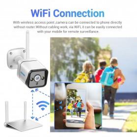 ESCAM QF120 WiFi IP Camera CCTV PIR Night Vision 1080P Solar Panel - White - 3