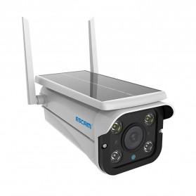 ESCAM QF110 WiFi IP Camera CCTV HD 1080P 2MP Solar Panel - White - 2
