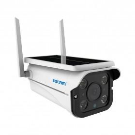 ESCAM QF110 WiFi IP Camera CCTV HD 1080P 2MP Solar Panel - White - 3