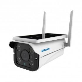 ESCAM QF110 WiFi IP Camera CCTV HD 1080P 2MP Solar Panel - White - 4