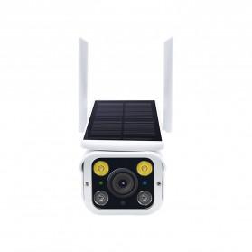 ESCAM QF110 WiFi IP Camera CCTV HD 1080P 2MP Solar Panel - White - 5