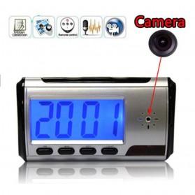 Kamera Pengintai Jam Digital 720P Motion Sensor dengan Remot Kontrol - Black