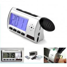 YYS Kamera Pengintai Jam Digital 720P Motion Sensor dengan Remot Kontrol - Z17 - Black - 2