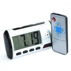 YYS Kamera Pengintai Jam Digital 720P Motion Sensor dengan Remot Kontrol - Z17 - Black - 3