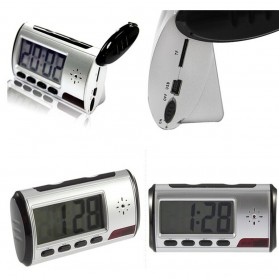 YYS Kamera Pengintai Jam Digital 720P Motion Sensor dengan Remot Kontrol - Z17 - Black - 4