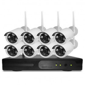Wireless NVR Kit 130W HD 8Ch with 8 CCTV 960P - 160512-2 - Black