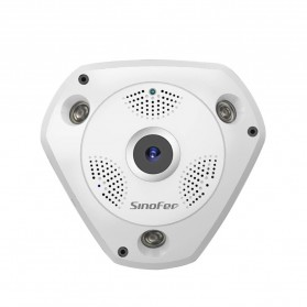 Sinofer Panoramic 3D Wireless IP Camera CCTV Fisheye 960P - White