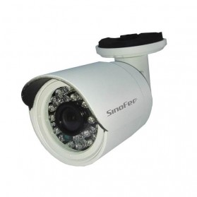 Waterproof Bullet IP Camera CCTV 960P - White