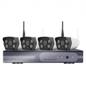 NVR CCTV Wireless Kit 130W HD 4Ch with 4 Camera 960P - 161101 - Black