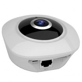 Panoramic Fisheye Wifi IP Camera CCTV 360 Degree CMOS 720P - White