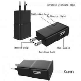 Kamera Pengintai WiFi Spy Camera Bentuk Charger Samsung 1080P - Black - 2