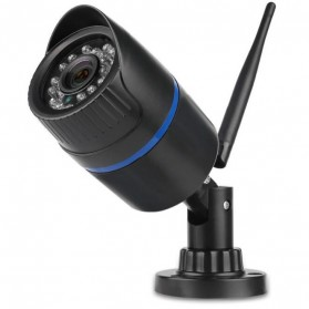 Waterproof Wireless IP Camera CCTV HD 1080P 2.0MP - Black