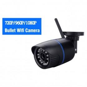 Waterproof Wireless IP Camera CCTV HD 1080P 2.0MP - Black - 2