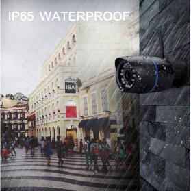 Waterproof Wireless IP Camera CCTV HD 1080P 2.0MP - Black - 3