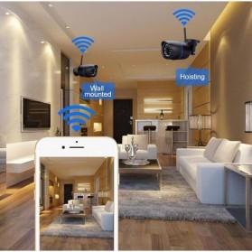 Waterproof Wireless IP Camera CCTV HD 1080P 2.0MP - Black - 4