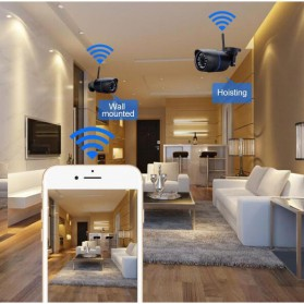 Waterproof Wireless IP Camera CCTV HD 960P 1.3MP - Black - 4