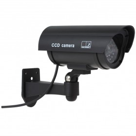 Kamera CCTV Outdoor Waterproof Palsu Dummy - Black