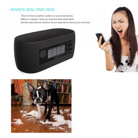YMSPIED Kamera Pengintai WiFi CCTV Spy Camera Bentuk Jam Alarm 1080P - Z16 - Black