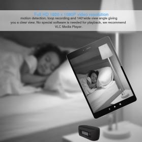 YMSPIED Kamera Pengintai WiFi CCTV Spy Camera Bentuk Jam Alarm 1080P - Z16 - Black - 3