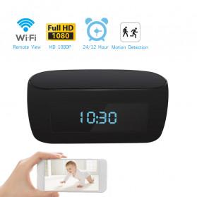 YMSPIED Kamera Pengintai WiFi CCTV Spy Camera Bentuk Jam Alarm 1080P - Z16 - Black - 8
