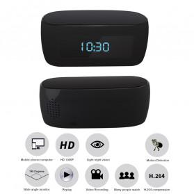 YMSPIED Kamera Pengintai WiFi CCTV Spy Camera Bentuk Jam Alarm 1080P - Z16 - Black - 9