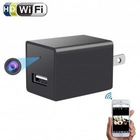 Kamera Pengintai WiFi Spy Camera Bentuk Charger USB 1080P - Z99 - Black