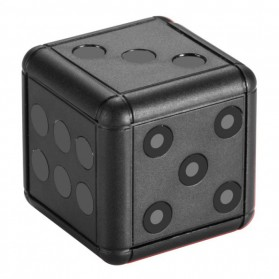 SpiedCat Kamera Pengintai Bentuk Dadu 1080P Dice Mini DV Camera - SQ16 - Black