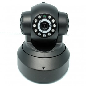 Wireless CCTV IP Camera P2P 300P CMOS 3.6mm IR LED with TF Card - Black