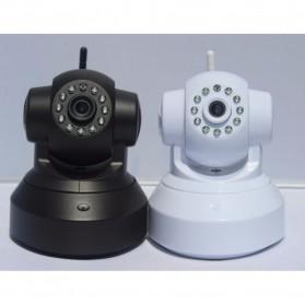 Wireless CCTV IP Camera P2P 300P CMOS 3.6mm IR LED with TF Card - Black - 2