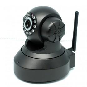 Wireless CCTV IP Camera P2P 300P CMOS 3.6mm IR LED with TF Card - Black - 4