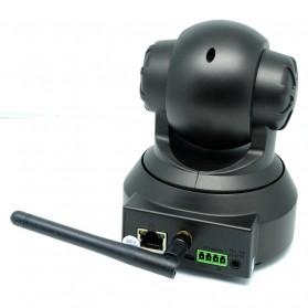 Wireless CCTV IP Camera P2P 300P CMOS 3.6mm IR LED with TF Card - Black - 5