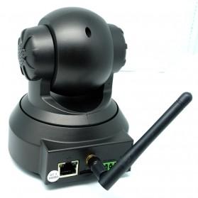 Wireless CCTV IP Camera P2P 300P CMOS 3.6mm IR LED with TF Card - Black - 6