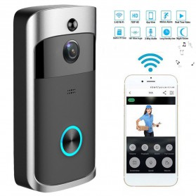X Smart Doorbell WiFi Mini Camera Surveillance CCTV 720P - Black