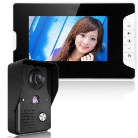Kamera Pintu Intercom Doorbell LCD Monitor 7 Inch - 813MKB11-EU - Black