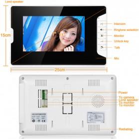 Kamera Pintu Intercom Doorbell LCD Monitor 7 Inch - 813MKB11-EU - Black - 6