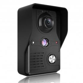 Kamera Pintu Intercom Doorbell LCD Monitor 7 Inch - 813MKB11-EU - Black - 7