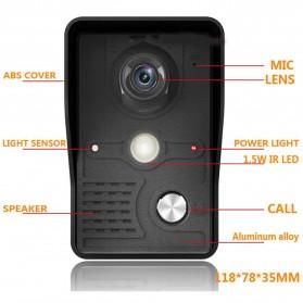 Kamera Pintu Intercom Doorbell LCD Monitor 7 Inch - 813MKB11-EU - Black - 8