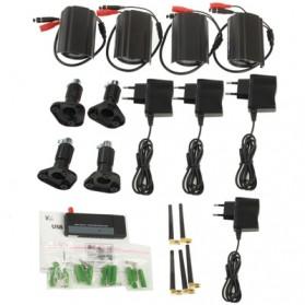 USB DVR Digital Wireless 2.4GHz 4 x IR Camera Security System - W701DK1 - Black - 7