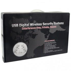 USB DVR Digital Wireless 2.4GHz 4 x IR Camera Security System - W701DK1 - Black - 8