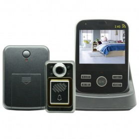 Wireless Peephole Video Door Phone 1x Monitors - JS-PVD335(1V1) - Black