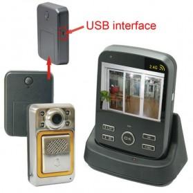 Wireless Peephole Video Door Phone 3x Monitors - JS-PVD335(1V3) - Black - 2